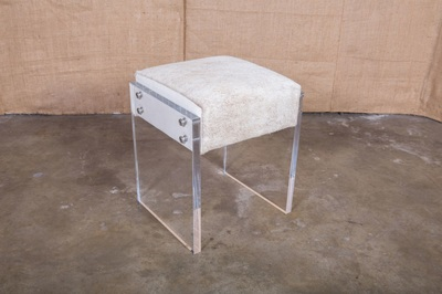 Lolo French Antiques Coco Lucite Vanity Stool Lolo