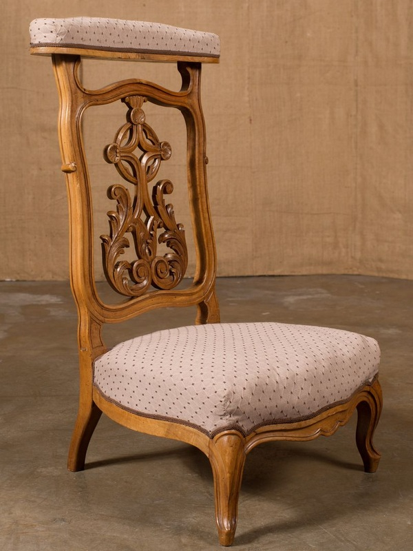 ANTIQUE FRENCH LOUIS XV PRIE DIEU/PRAYER CHAIR - LOLO FRENCH ANTIQUES ANTIQUE FRENCH LOUIS XV PRIE DIEU/PRAYER