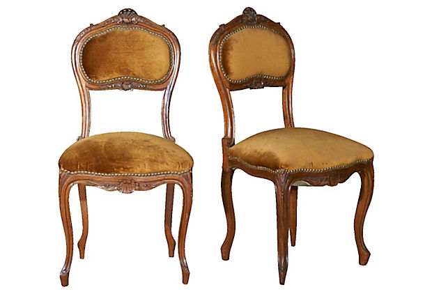 Lolo french antiques pair french antique louis xv style for Salon louis xv