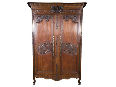 Superbe COUNTRY FRENCH LOUIS XV STYLE NORMANDY WEDDING ARMOIRE