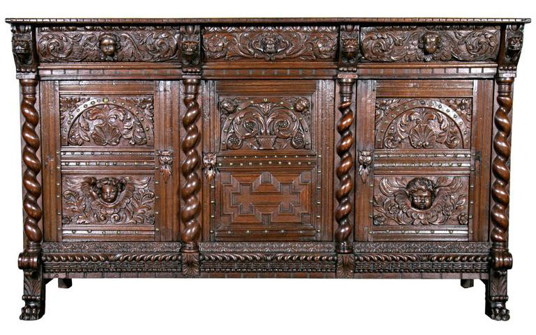 Lolo French Antiques 17th c. French period LXIII/LXIV transitional enfilade buffet