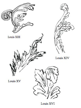 furniture motifs. Acanthus Leaves Furniture Motifs