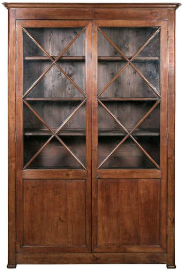 Lolo French Antiques 19th Century French Louis Philippe Period Cherrywood Bibliotheque or Bookcase