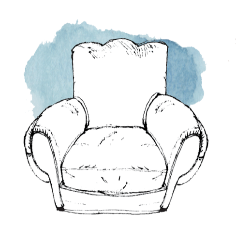 Fauteuil confortable chair illustration