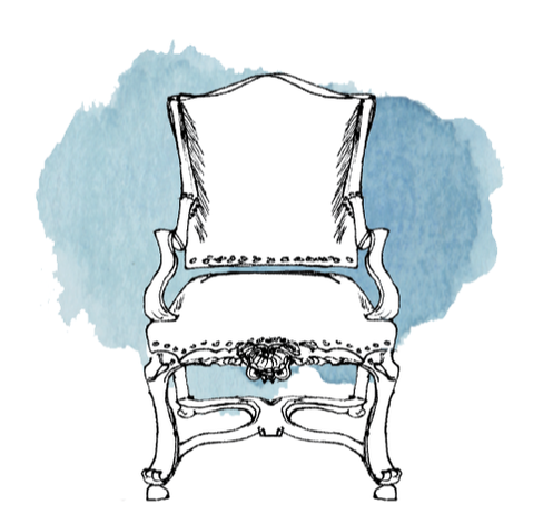 French fauteuil chair illustration