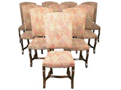 SET OF TEN 19TH CENTURY FRENCH LOUIS XIV STYLE DINING CHAIRS