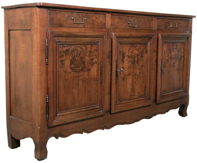 Lolo French Antiques Rare 18th Century French Louis XV - Louis XVI Transition Period Cherry Enfilade